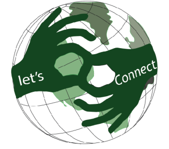 logo wereldbol Let's Connect